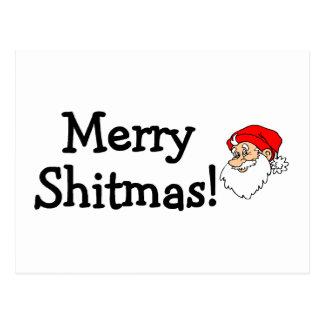 Merry Shitmas Santa Postcard