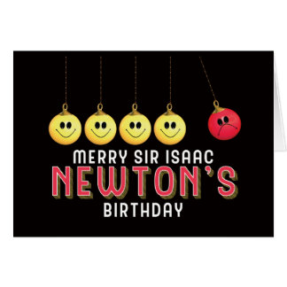 Merry Sir Isaac Newton's Birthday Anti Christmas Card