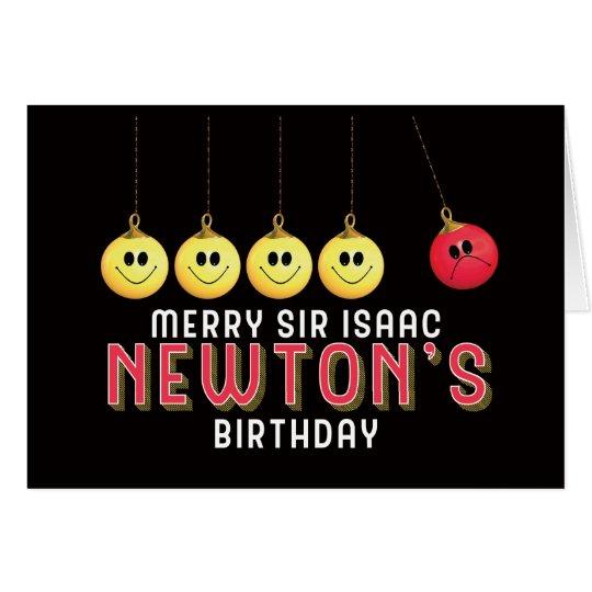 Merry Sir Isaac Newton's Birthday Anti Christmas Card