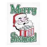 Merry Sixmas! Santa Loves A Six Pack! Custom Flyer