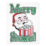 Merry Sixmas! Santa Loves A Six Pack! Personalized Announcements