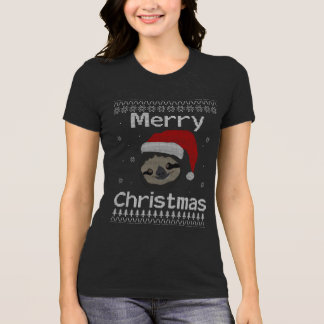 Merry Sloth Christmas T-Shirt