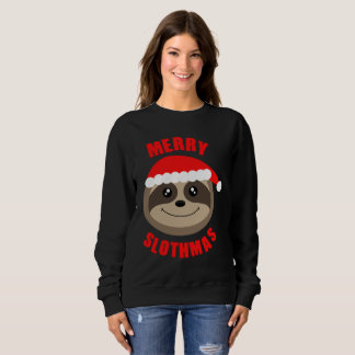 Merry Slothmas Cute Sloth Christmas Sweater Jumper