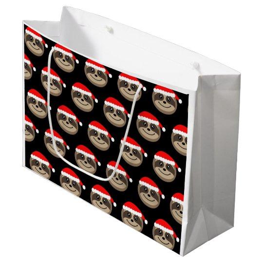 Merry Slothmas Sloth Christmas Gift Bag