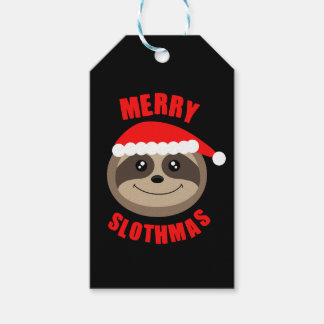 Merry Slothmas Sloth Xmas Christmas Gift Tag