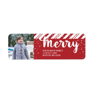 Merry Snowfall Collection Return Address Label