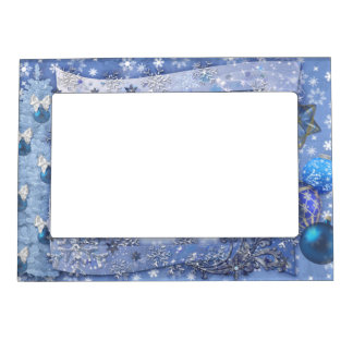 Merry Snowy Christmas Magnetic Frame