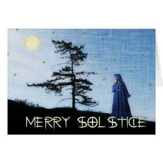 Merry Solstice Night Greeting Card
