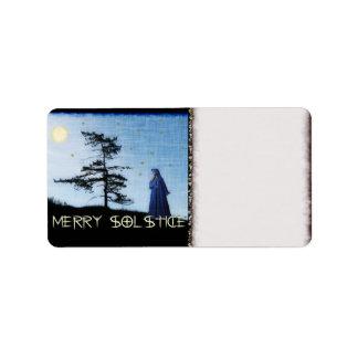 Merry Solstice Night Label
