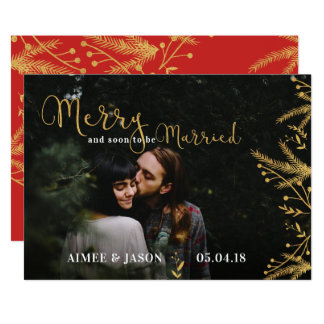 Merry Soon to be Married Christmas Save the Date Card