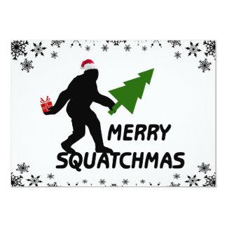 Merry Squatchmas 13 Cm X 18 Cm Invitation Card