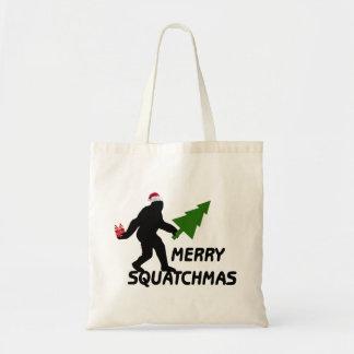 Merry Squatchmas Budget Tote Bag