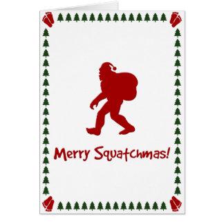 Merry Squatchmas! (Christmas Card) Card