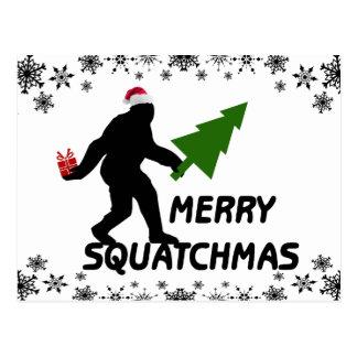 Merry Squatchmas Postcard
