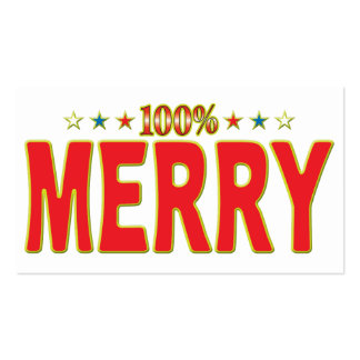 Merry Star Tag Pack Of Standard Business Cards