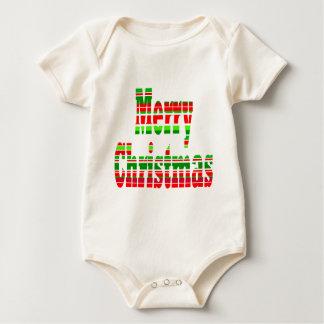 Merry Stripe MERRY CHRISTMAS Baby Bodysuits