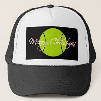 Merry Tennis Christmas Trucker Hat