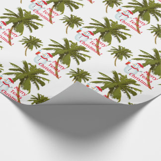 Merry Texas Christmas, snowman, gift wrap. Wrapping Paper