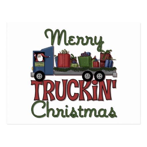 Merry Truckin' Christmas Postcard