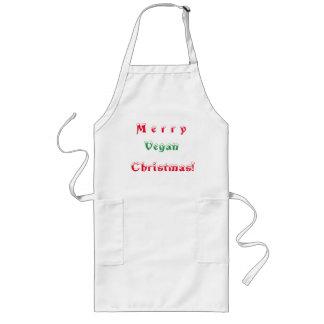 Merry Vegan Christmas Long Apron