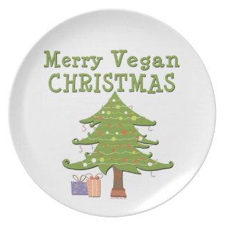 Merry Vegan Christmas Plate