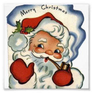 merry vintage christmas,retro,rustic,genuine,repro photographic print