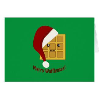 Merry Wafflemas Christmas Waffle Card