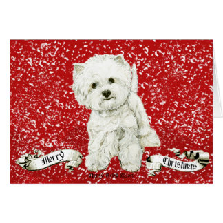 Westie Christmas Cards & Invitations | Zazzle.co.uk