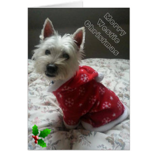 Merry Westie Christmas Card for your Friend