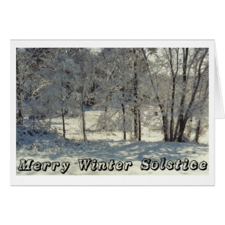 Merry Winter Solstice Greeting Card