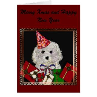 """Merry Woof Woof"" Xmas  card*"