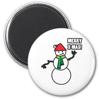 Merry-X-mas 6 Cm Round Magnet