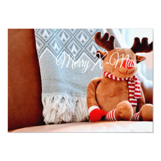 Merry X-Mas Reindeer Card