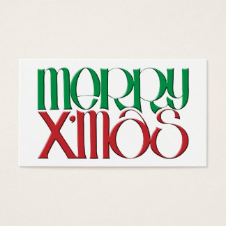 Merry X'mas 3D Gift Tag Business Card