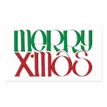 Merry X'mas 3D Gift Tag Business Card Template