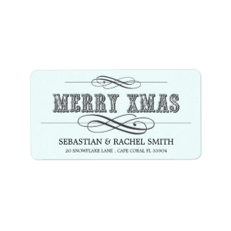 MERRY XMAS ADDRESS LABELS