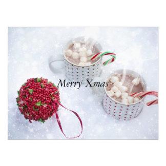 Merry Xmas - Chocolate on the snow Art Photo