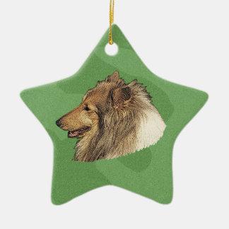 Merry Xmas Collie Christmas Ornament