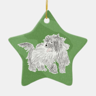 Merry Xmas Coton de Tulear Christmas Ornament