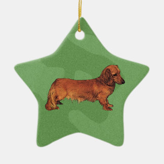 Merry Xmas Dachshund Christmas Ornament