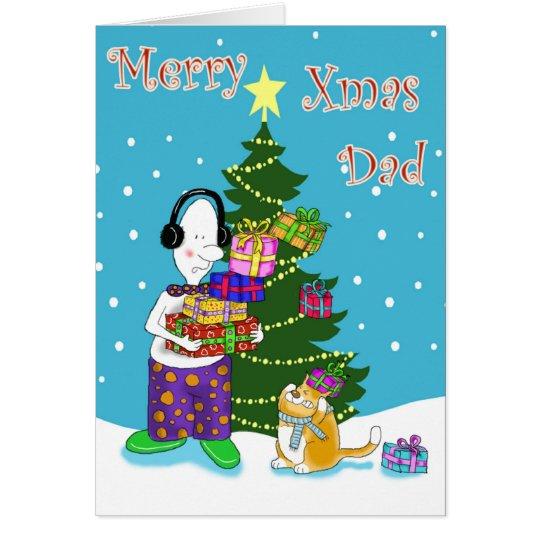 Merry Xmas  Dad Card
