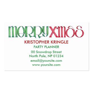 Merry X'mas green Business Card