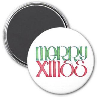 Merry X'mas green Magnet