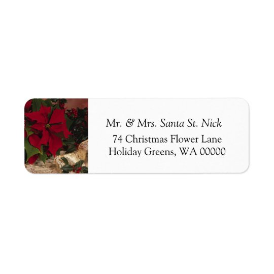 Merry Xmas Greeting Cards  Label Sticker Return Address Label