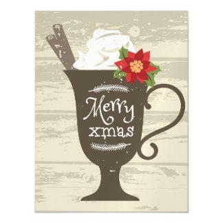 Merry Xmas Holiday Ice Cream Magnetic Invitations