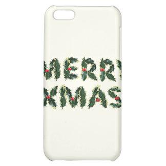 Merry Xmas Holly iPhone 5C Case