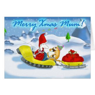merry xmas mum cards