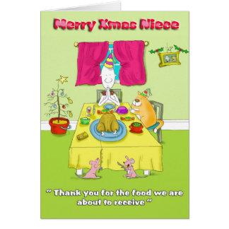 Merry Xmas niece Greeting Card