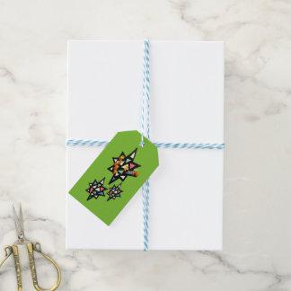 Merry Xmas Pattern Stars Gift Tags