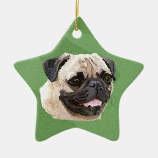 Merry Xmas Pug Christmas Ornament